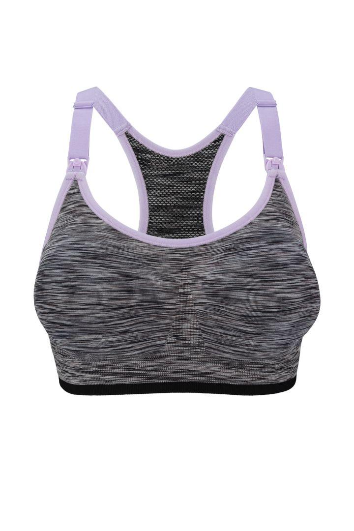 Body Sil Seamless Sport Nursing Bra, black/grey