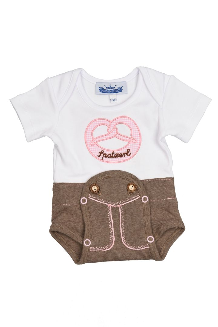 Traditional Baby Onesie in the Lederhosen Look
