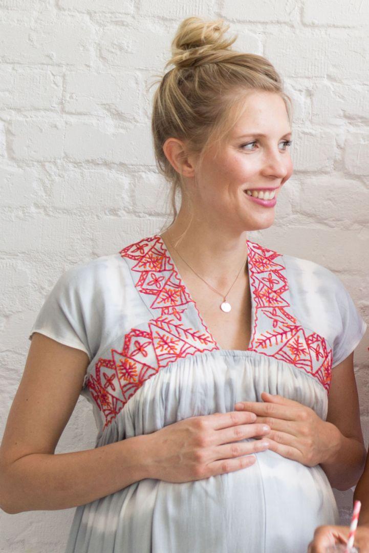 Maternity and nursing tunic dress Batik Style