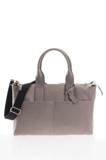 Luxe Wickeltasche aus Kalbsleder grau