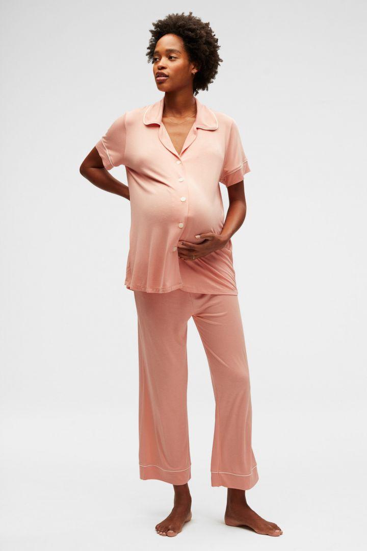 Capri Umstands- und Still Pyjama apricot