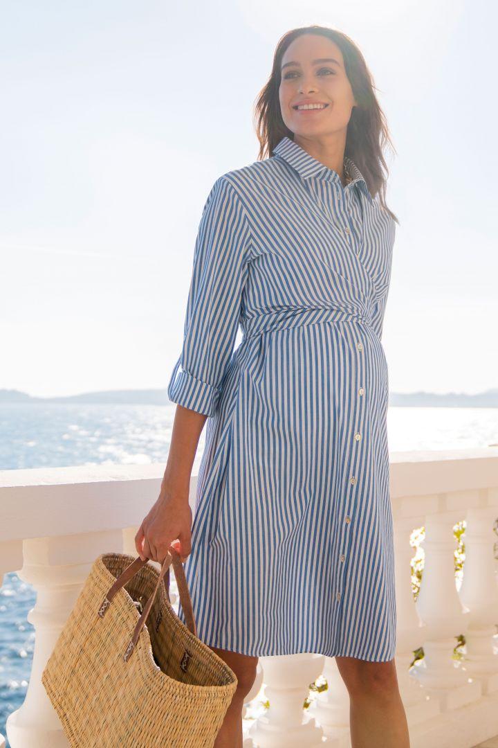 Umstands- und Still-Hemdblusenkleid