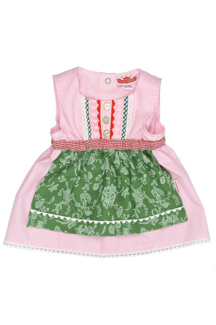 Babydirndl rosa/grün