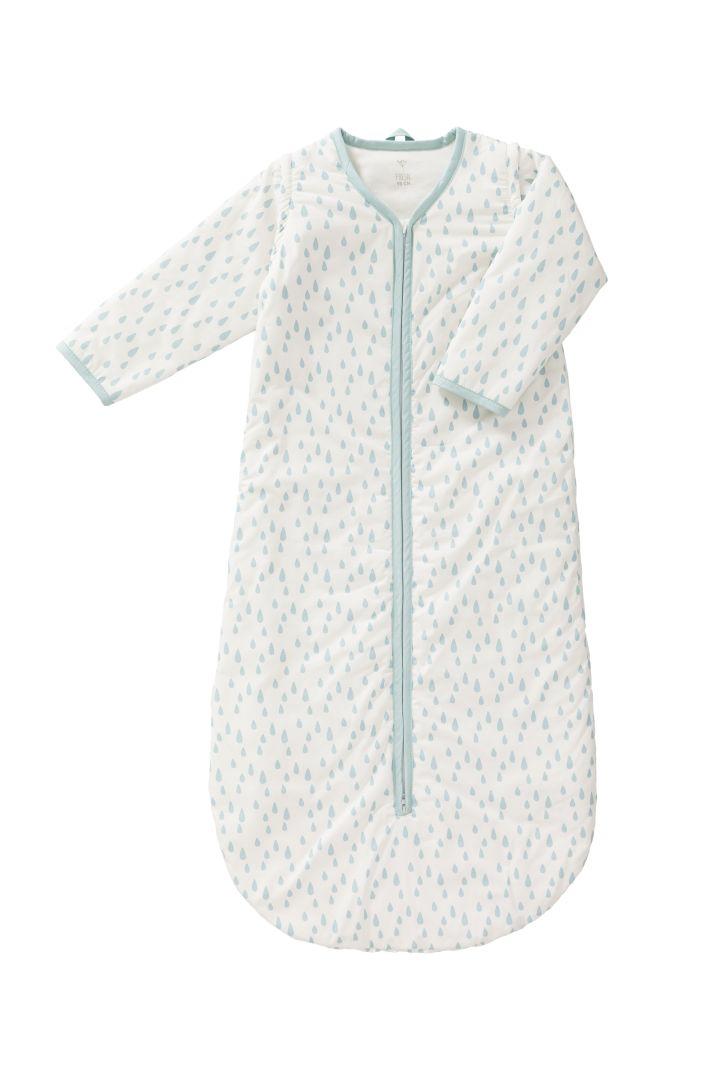 Organic Baby Schlafsack mit Ärmeln und Tröpfchen Print