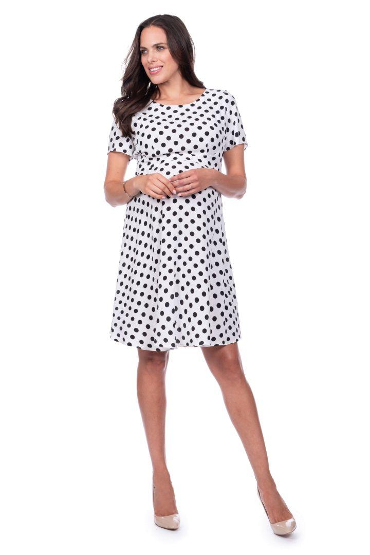 Polka-Dot Maternity Dress