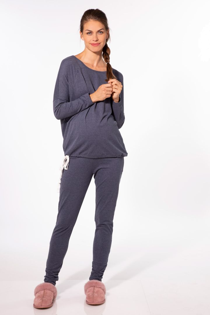 Lounge and pyjama leggings blue marl
