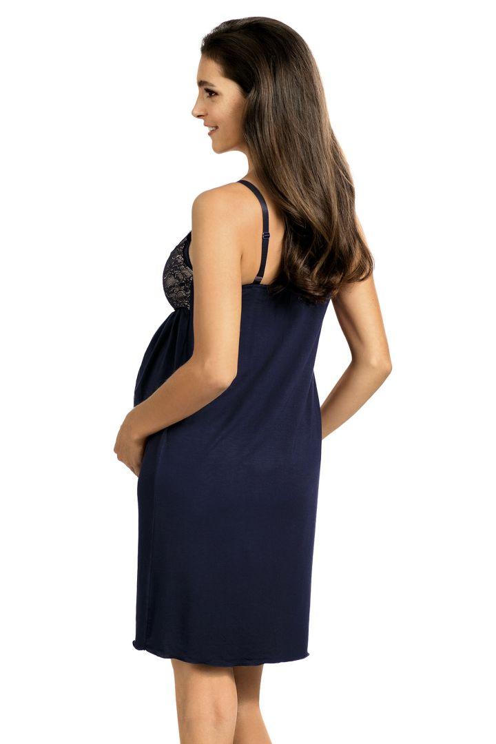 Maternity and Nursing Negligee dark blue