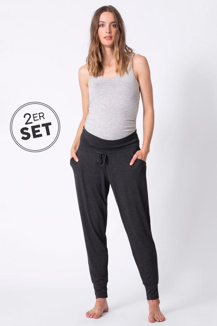 Set of 2 Maternity Pyjama Bottoms