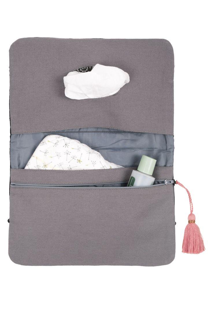 Changing Clutch Bag with Tassel Island Magic