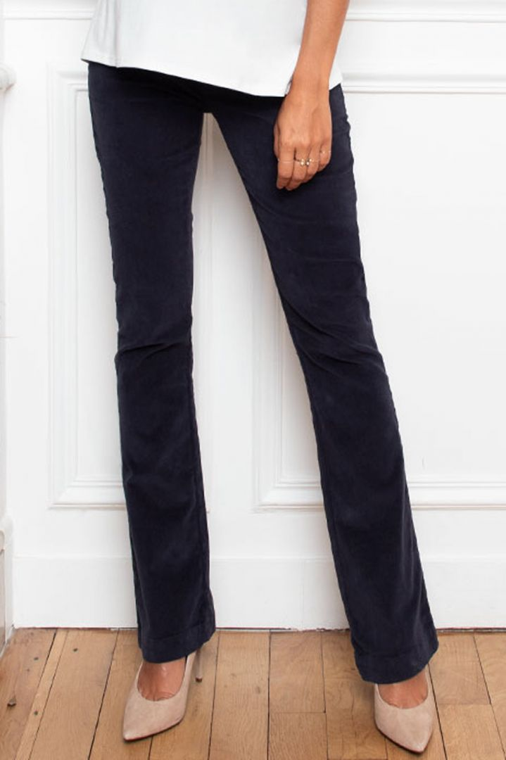 Bootcut Velours Overbump Maternity Trousers