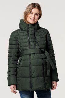Winterjacke mit Schwangerschafts-Einsatz khaki
