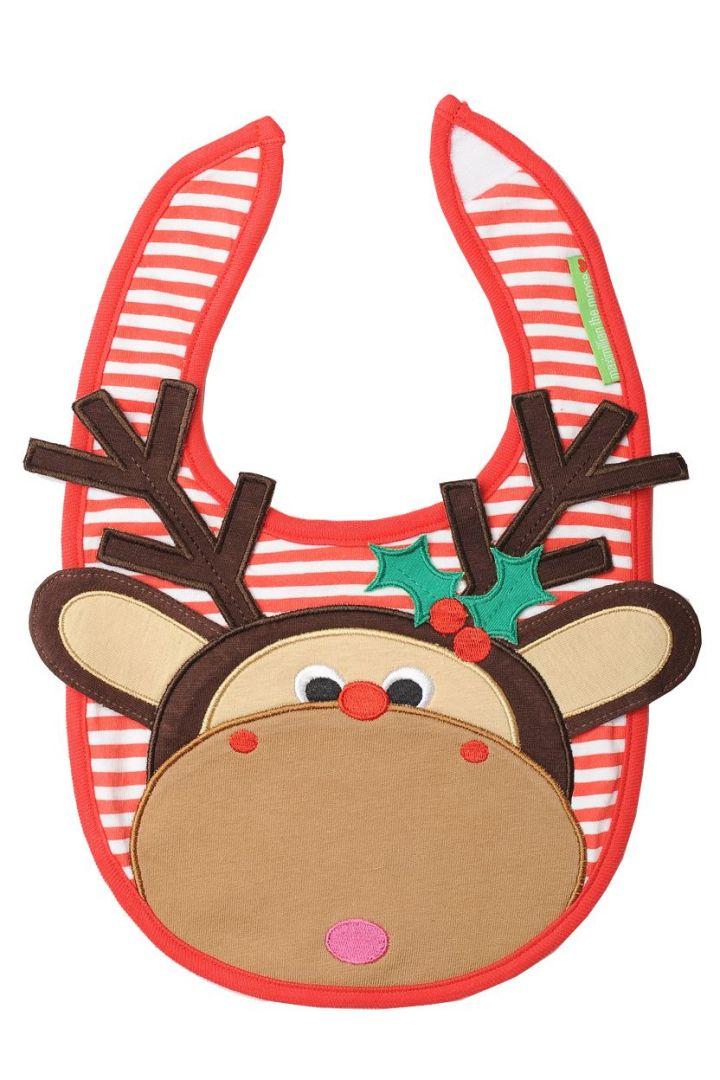 Moose Christmas Bib