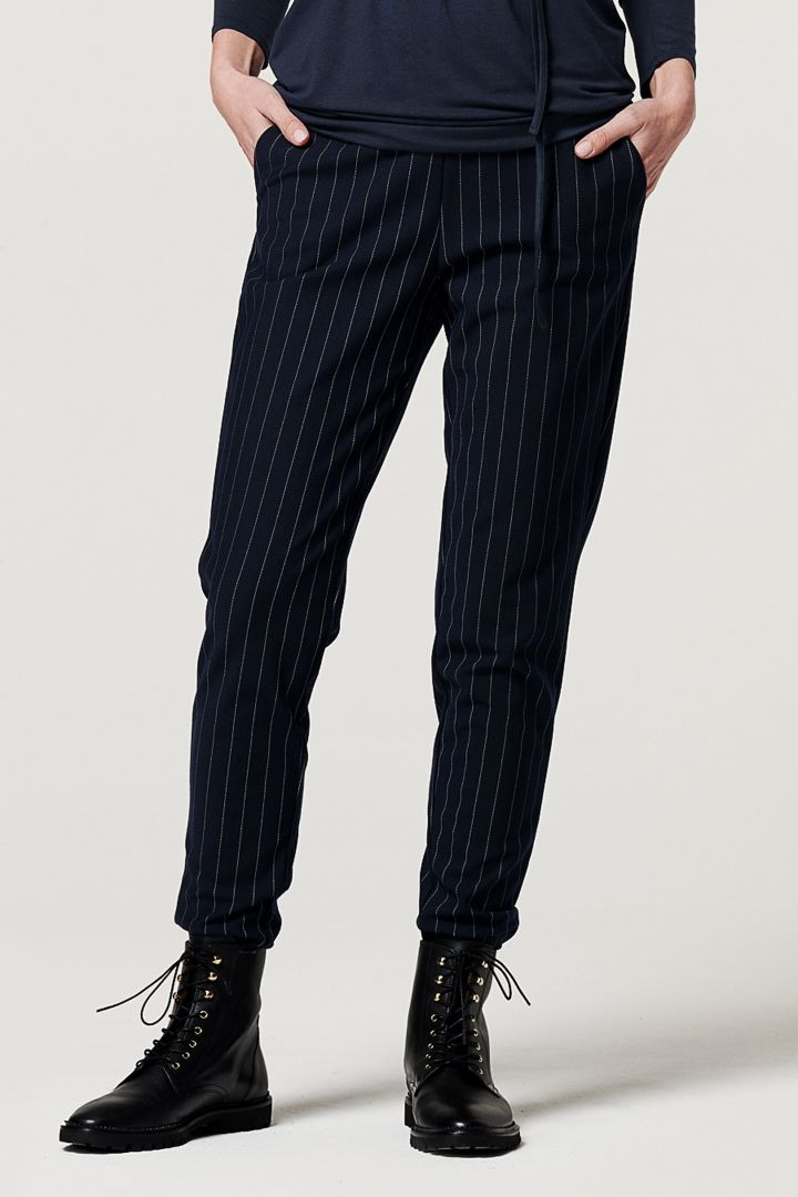 Maternity Business Trousers with Pinstripes