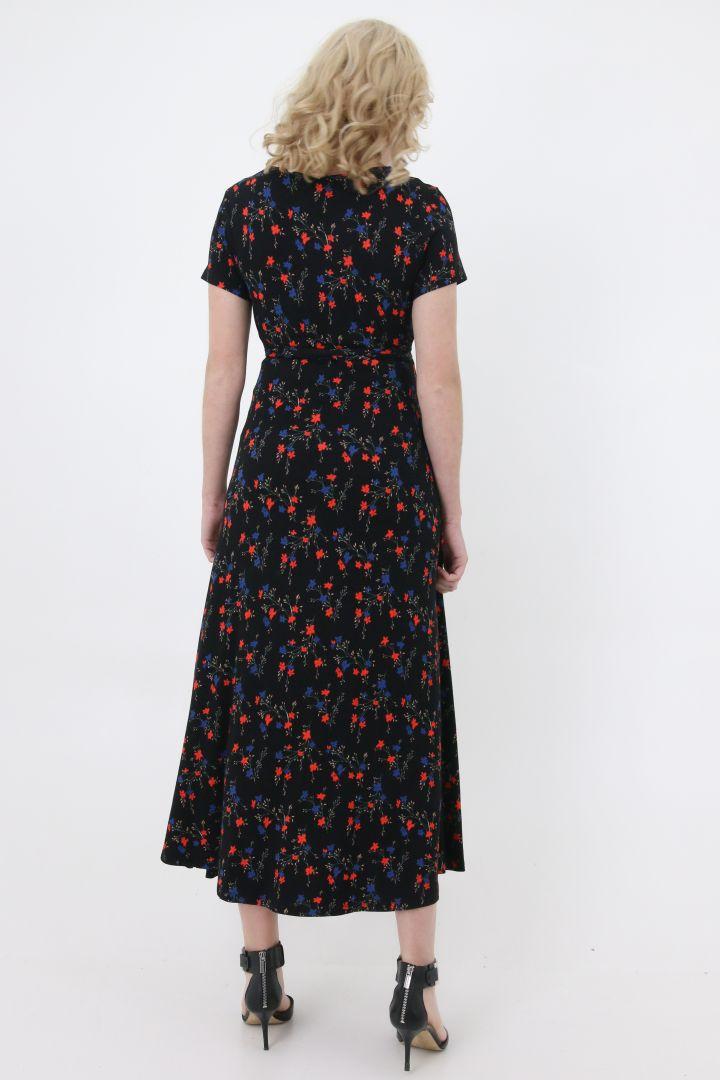 Maxi Umstands- und Stillkleid mit Blumen Print