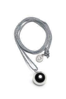 Bola Klangkugel-Kette mit grauer Kordel
