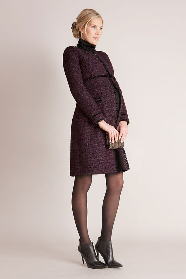 Marina Tweed Umstandsmantel