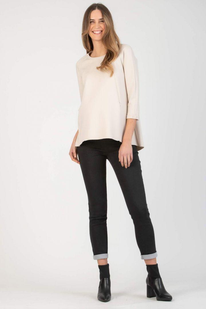 Ponte Umstands-Sweater mit Stillöffnungen ecru