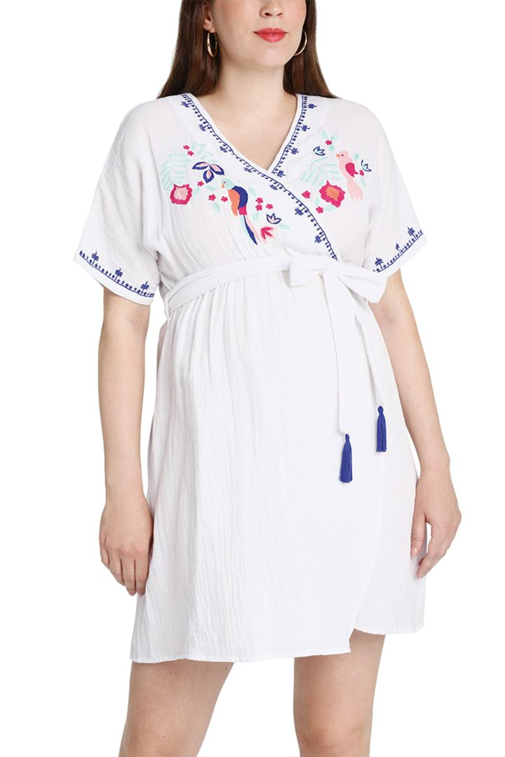 maternity dress third eye col.3 white