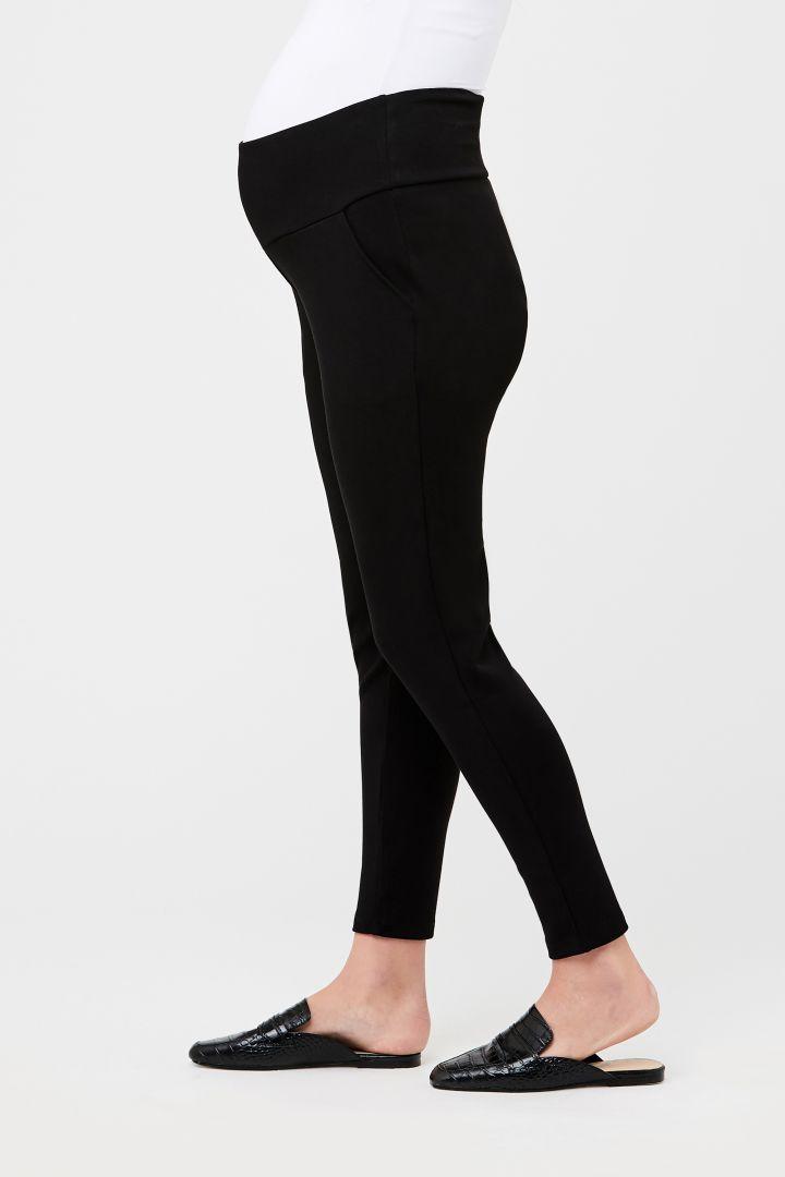 Slim-Fit Maternity Trousers black