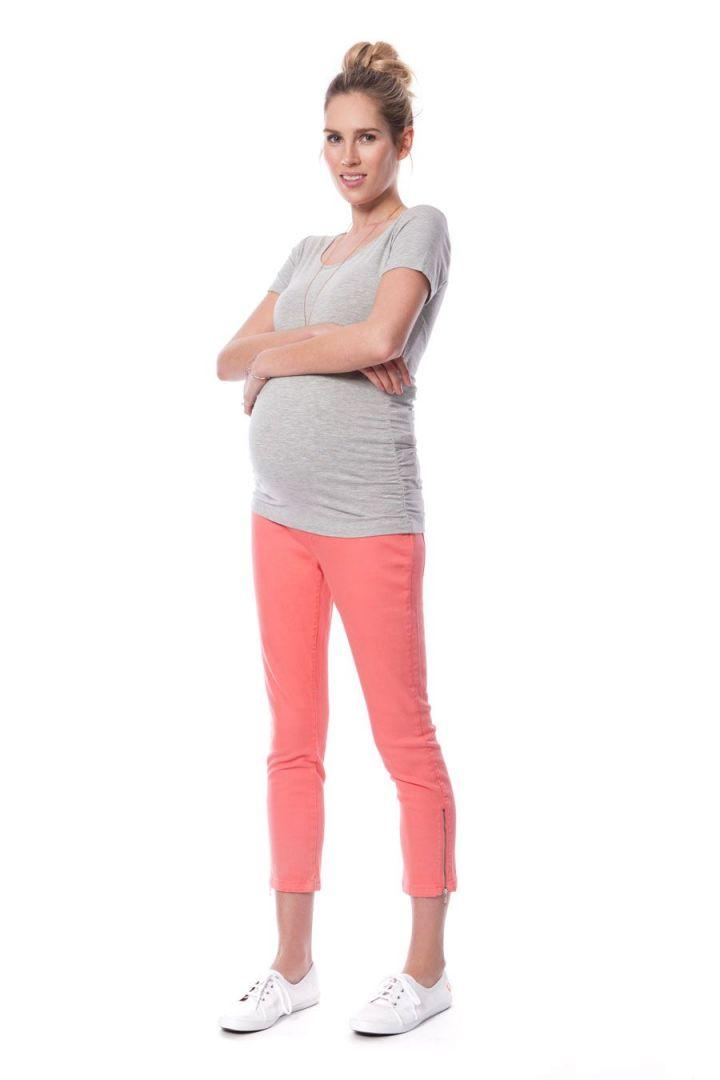 Cropped Jeans mit Reißverschluss