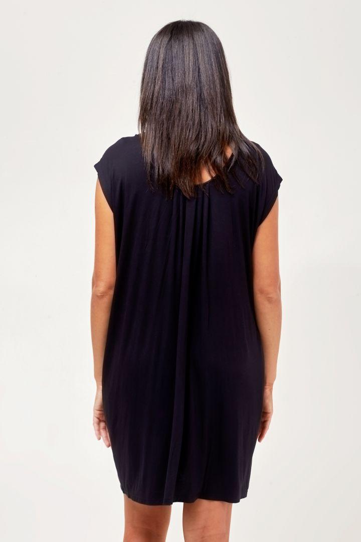 Umstands- und Still-Nachthemd mit Bustier schwarz