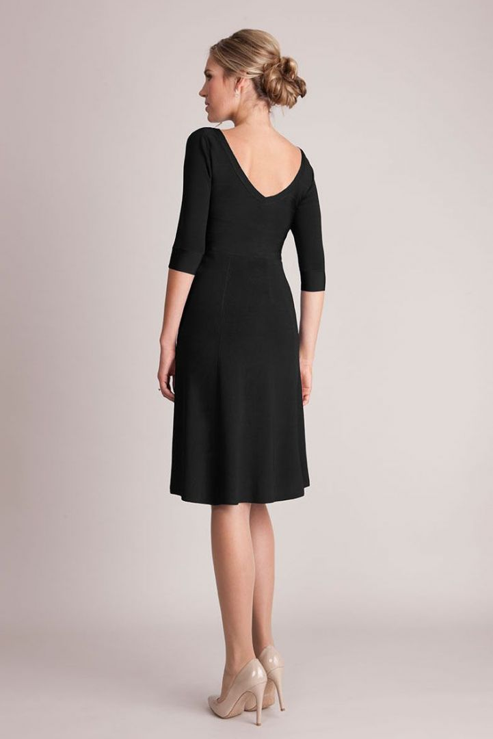 A-Line Evening Dress with Boat Neckline