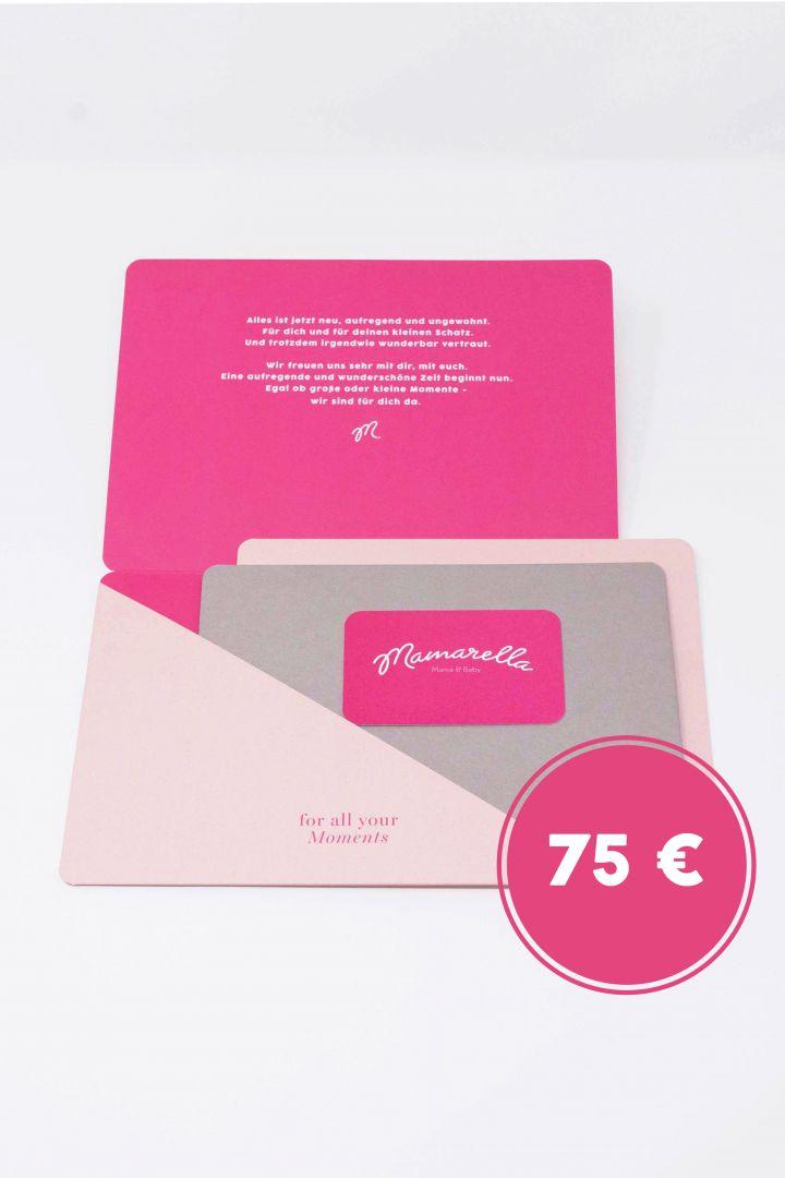 Geschenkgutschein in Geschenkkarte 75 €