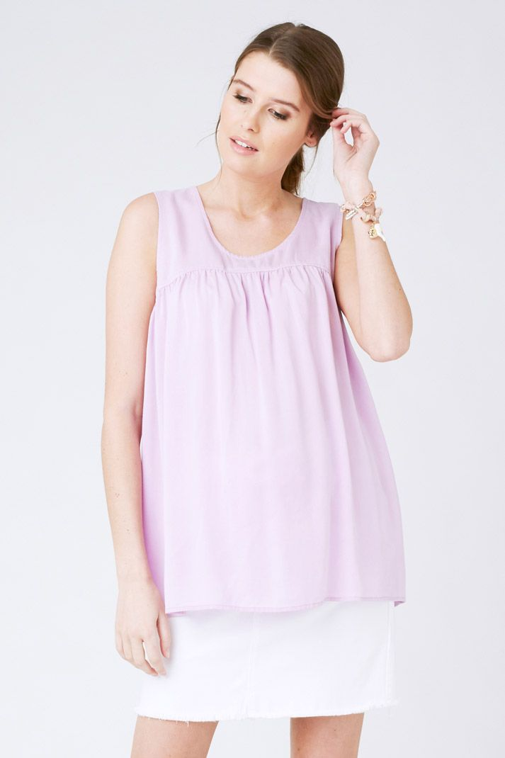 Maternity Top made from Tencel Smock