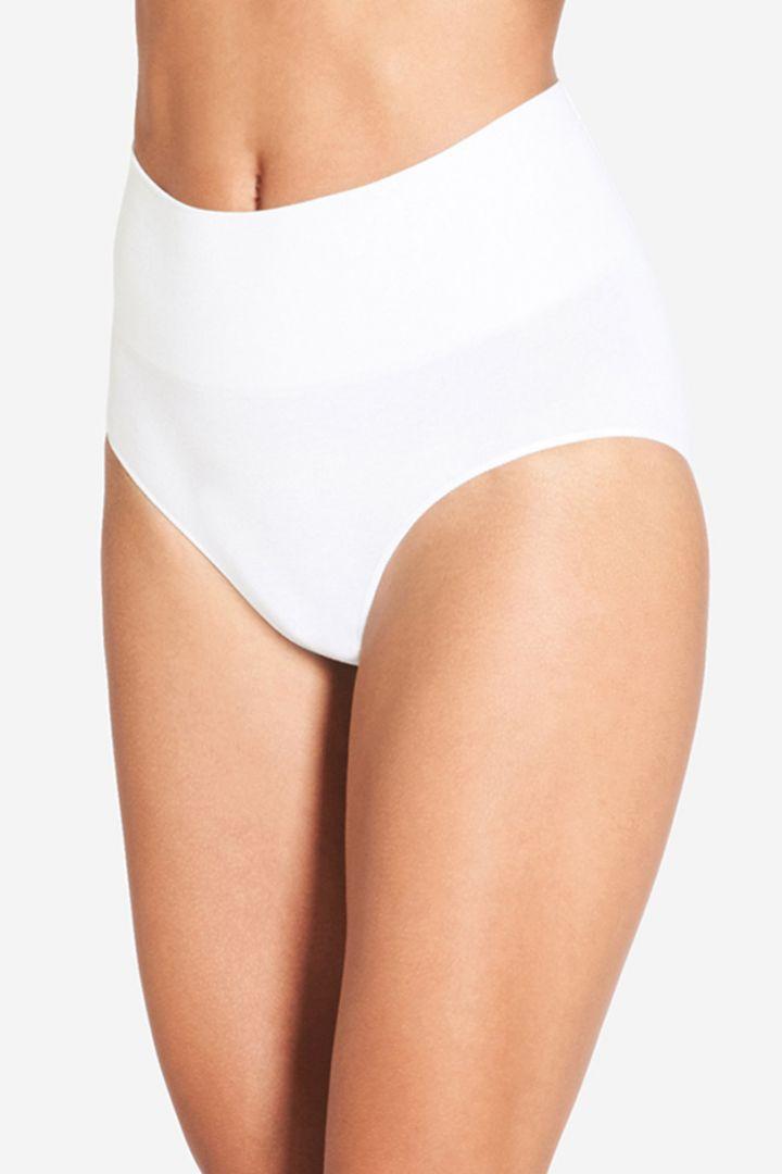 High-waist Pantie aus Bambus Viskose weiß