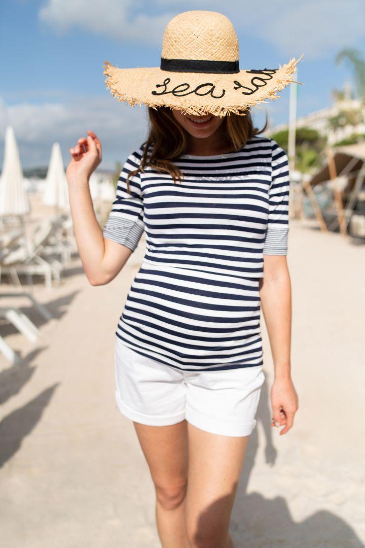 Boatneck Umstands- und Stillshirt Stripe