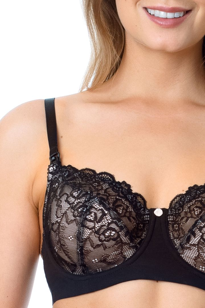 Temptation nursing bra black