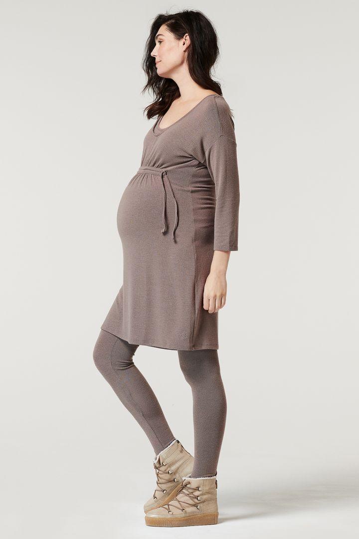 Lounge Maternity and Nursing Tunic taupe