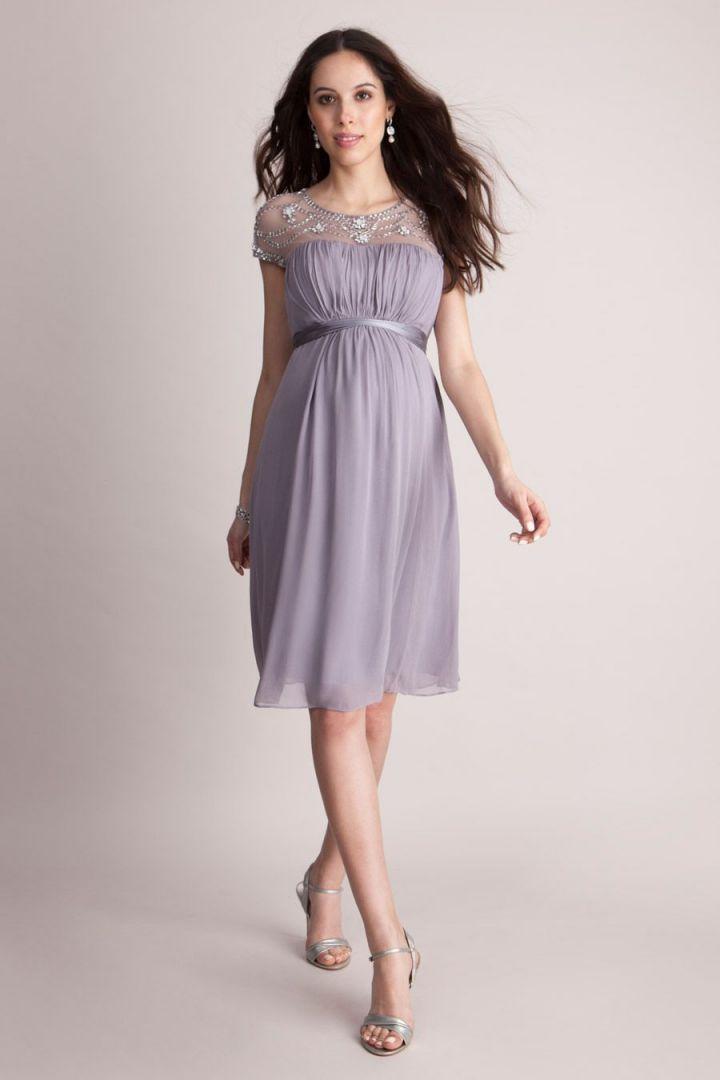 Maternity Dress with Beading