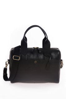 Wickeltasche aus Kalbsleder schwarz
