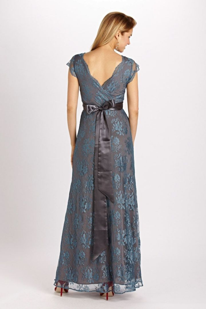 Eden Dress long blue