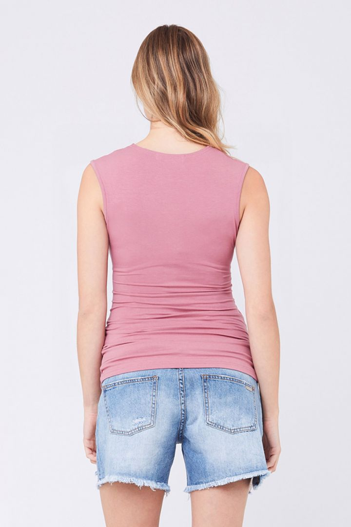 Umstands- und Stilltop mit Cross-Over Design rosa