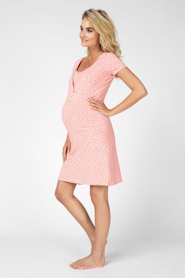 Umstands- und Still-Nachthemd aus Bio-Baumwolle rosa