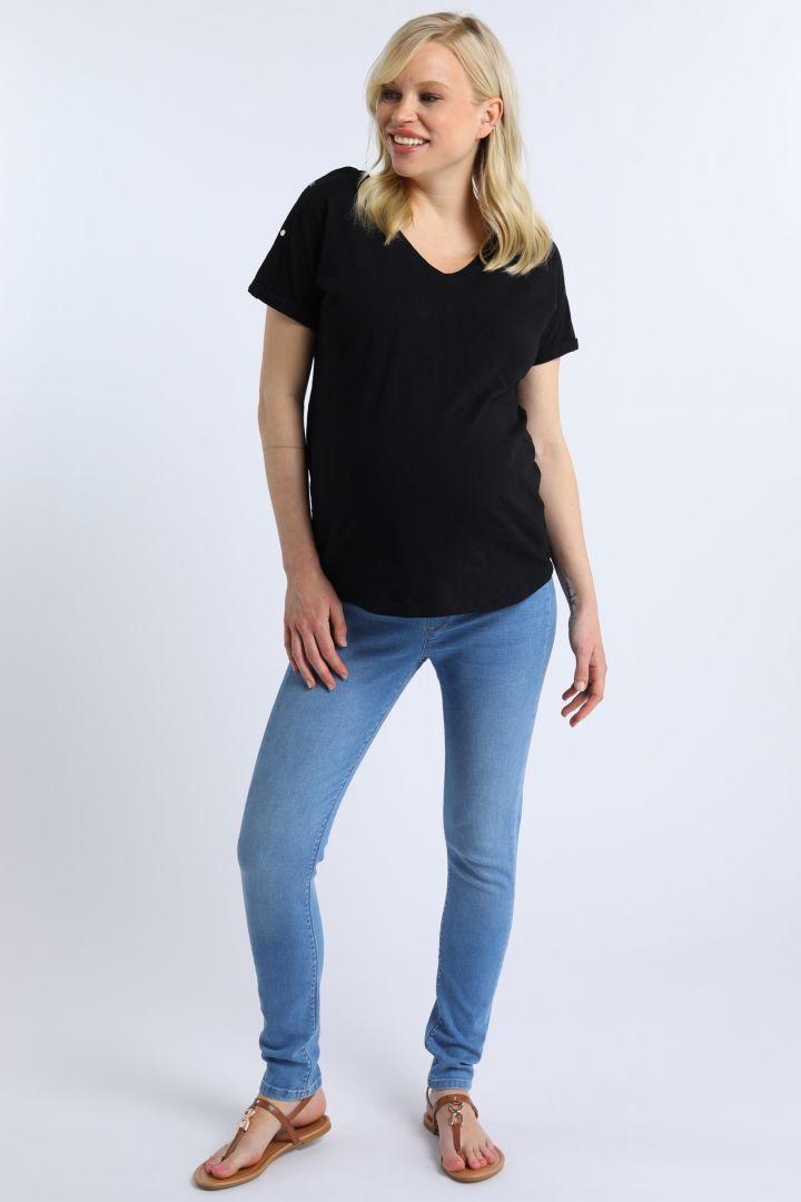 Organic Boyfriend Maternity and Nursing Shirt black