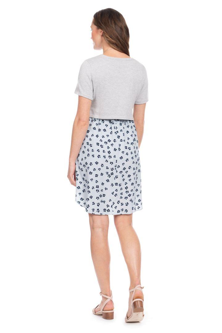 Umstands- und Stillkleid mit Jersey Top