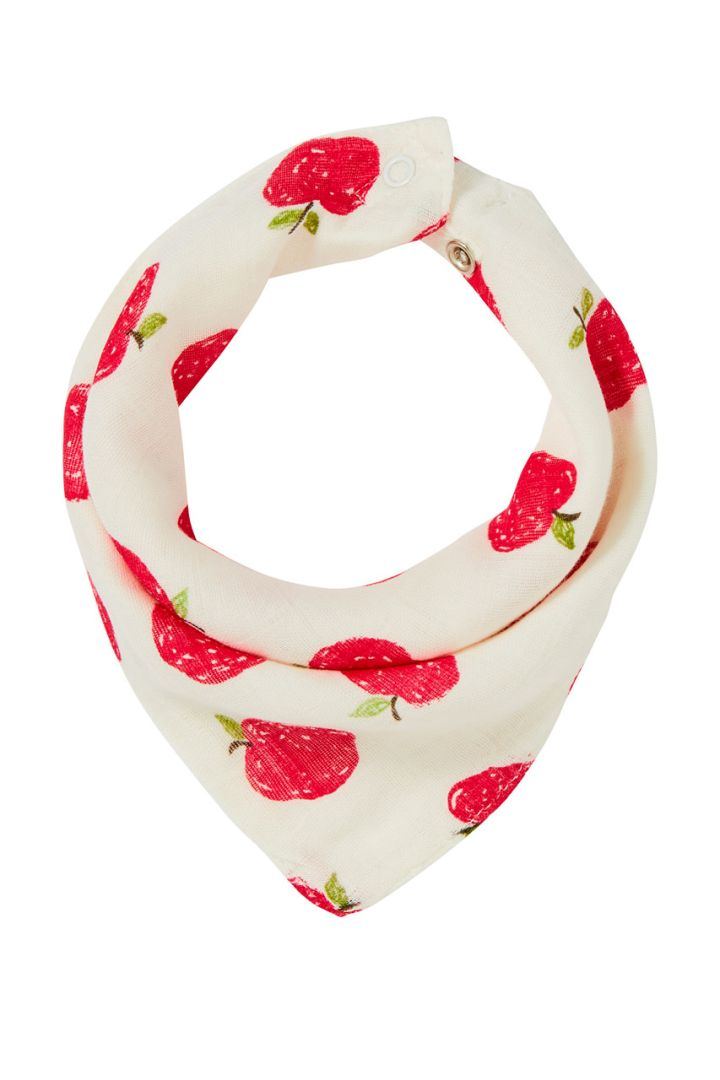 Neckerchief and bib with apples