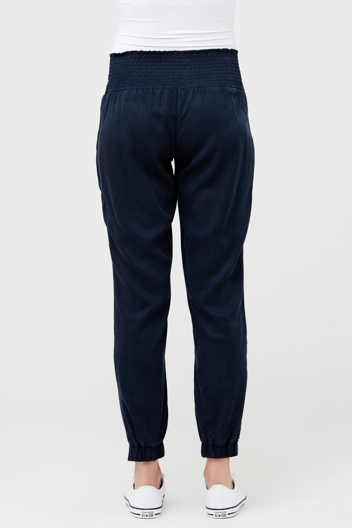 Tencel Maternity Trousers with Smoked Waistband