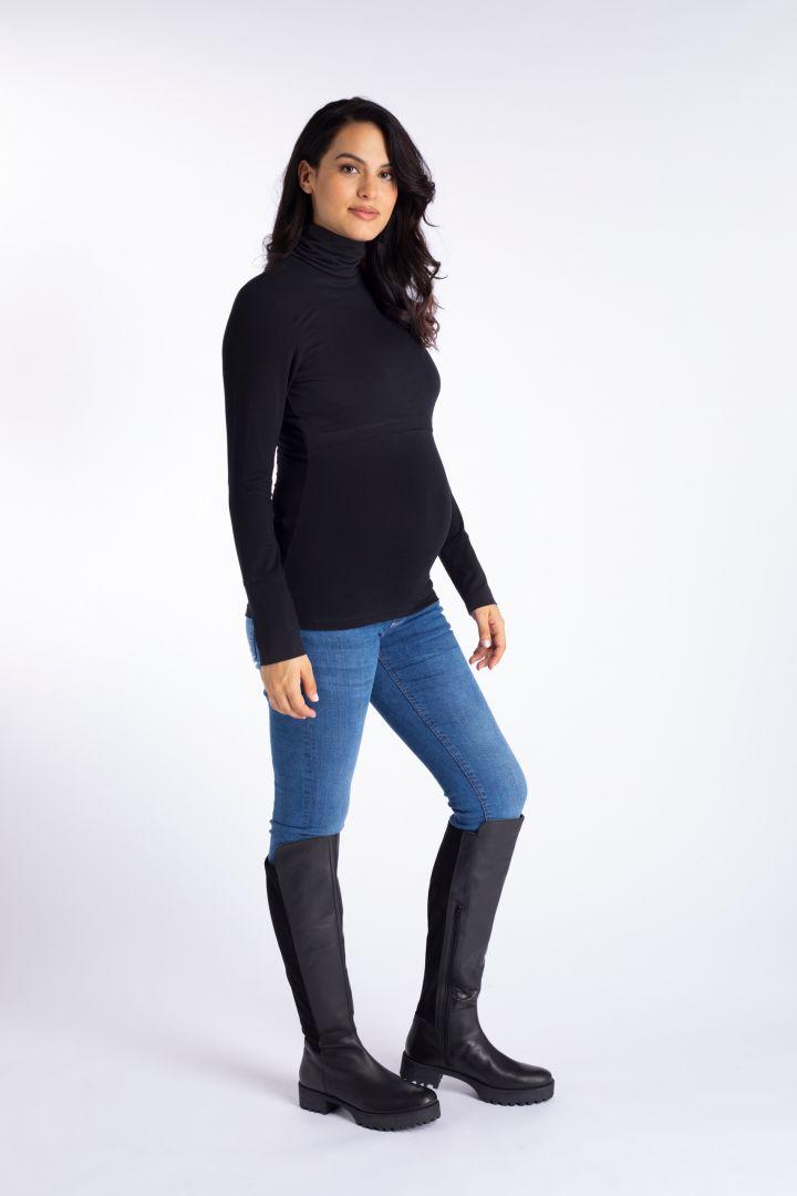 Ecovero Umstands- und Stillshirt mit Rollkragen