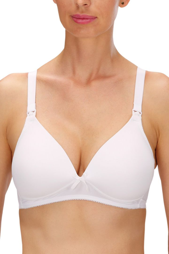 Naturana Maternity and Nursing Bra with Form Cups, White