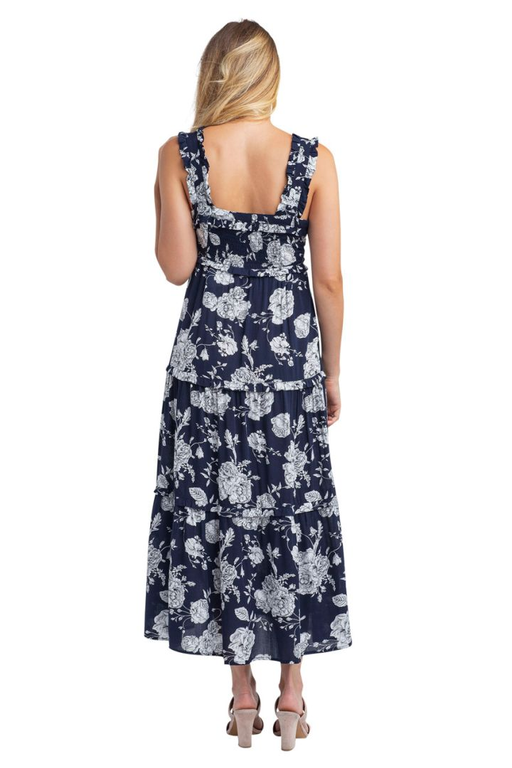 Button-Up Floral Maternity and Nursing Dress