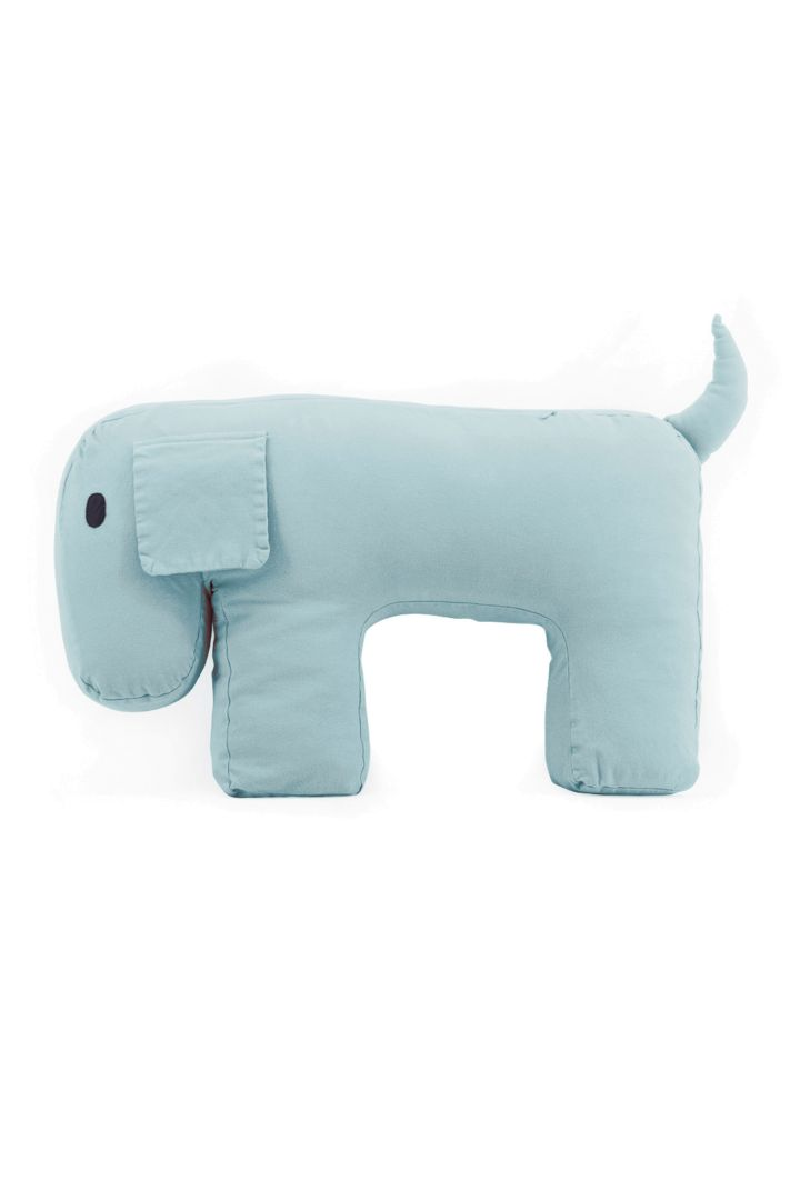 baby and nursing cushion dog design blue