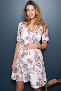 Umstands- und Stillkleid mit Blumen Print