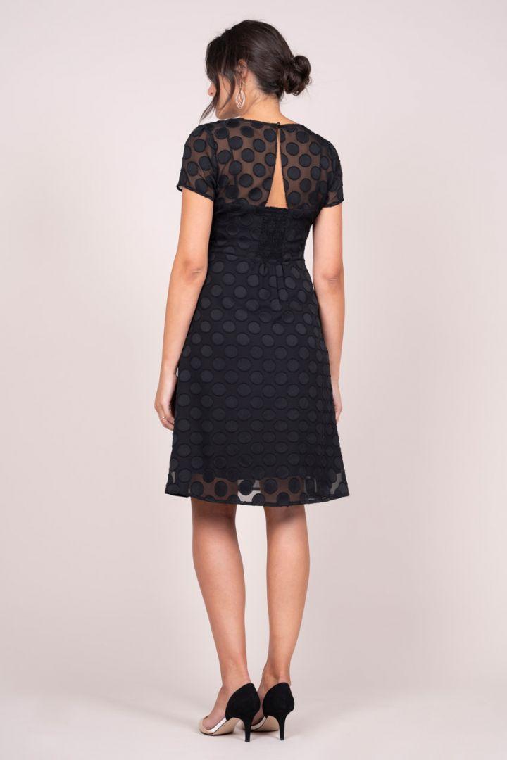 Polka-Dot Lace Maternity Dress