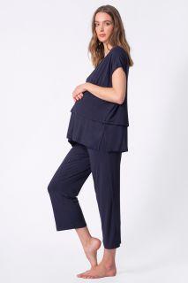 Umstands- und Stillpyjama im Lagenlook