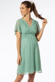 Chiffon Umstands- und Stillkleid mintgrün
