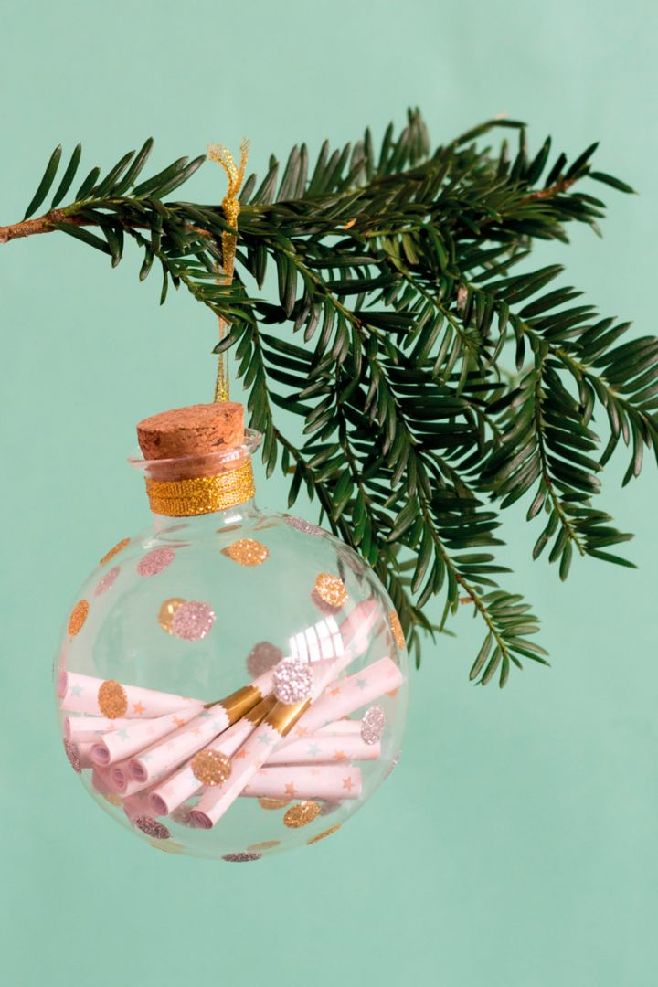 Weihnachtsbaumkugel für Baby Erinnerungen